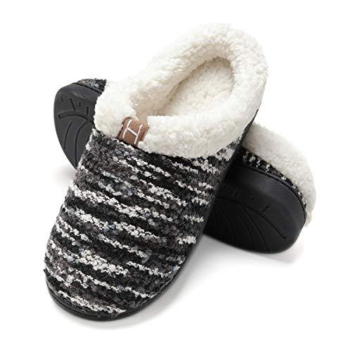 Zapatillas de casa Mujer, Forro algodón, Ultraligero cómodo y Antideslizante, Pantuflas de casa para Mujer