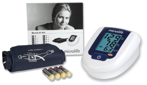 Microlife 3AG1 Antebrazo Automatic blood pressure unit - Tensiómetro (AA, 1.5 V, LCD)