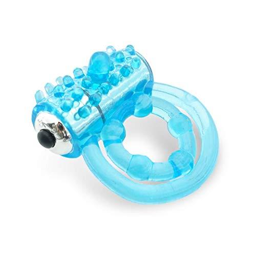 Blauwe kleine en gemakkelijk te dragen siliconenring Ontspannende stressverlichting Meervoudig gebruik -574