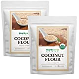 Healthworks Coconut Flour Unrefined Raw Organic (128 Ounces / 8 Pounds)(2 x 4 Pound Bags) | Certified Organic | Keto, Vegan & Non- GMO | Protein Based Whole Foods | Pancakes, Waffles & Bread