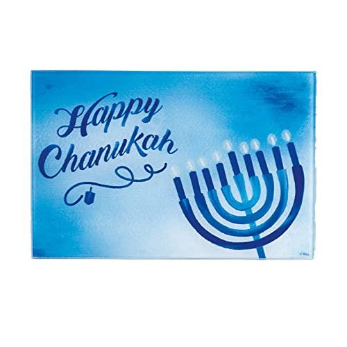 Rite Lite Sapphire Collection Chanukah Tempered Glass Menorah Drip Tray Hanukkah
