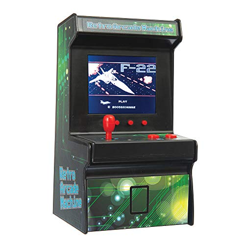 Funtime Gifts ET7810 Retro Arcade Machine, Black and Green, 11cm
