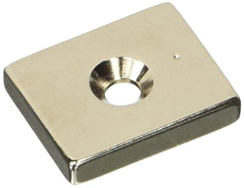 Magnet Expert 25 x 20 x 5 mm d'épaisseur x 4.5 mm c/s N42 Néodyme Aimant - 9.8 kg de traction (Pack de 1)