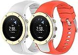 Classicase Compatible con Suunto Spartan Trainer Wrist HR Correa de Reloj, Banda de Reemplazo Silicona Suave Sports Pulsera (Pattern 2+Pattern 3)