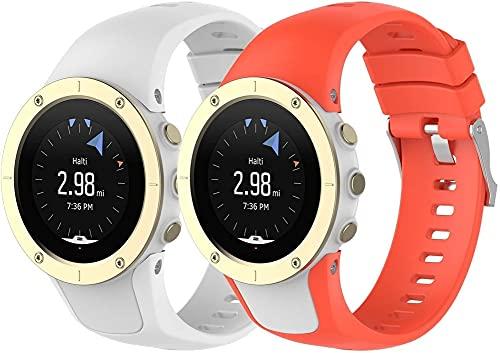 Chainfo Compatible con Suunto Spartan Trainer Wrist HR Correa de Reloj, Banda de Reemplazo Silicona Suave Sports Pulsera (Pattern 2+Pattern 3)