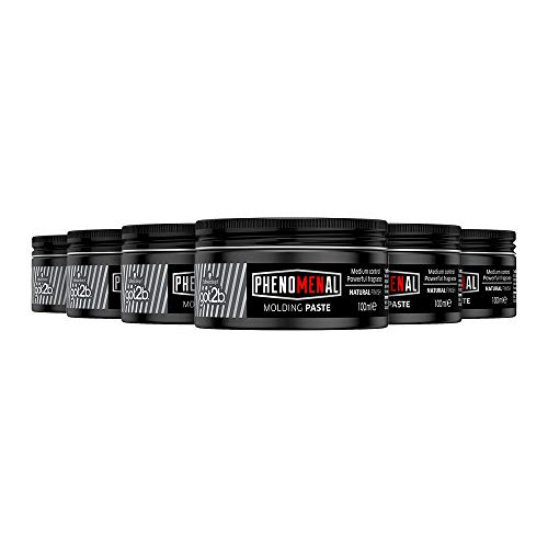 Schwarzkopf got2b Phenomenal Moulding Paste, hair product for gentleman grooming with style, paste for hairstyles with sheen & hold, pack: 6 x 100ml