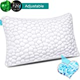 Shredded Memory Foam Pillows for Sleeping Cooling Gel Pillows for Side Sleepers Bamboo Pillow with Adjustable loft Hypoallergenic Sleeping Bed Pillows with Removable Cover Queen Size (LUXRY 3D--QUEEN)