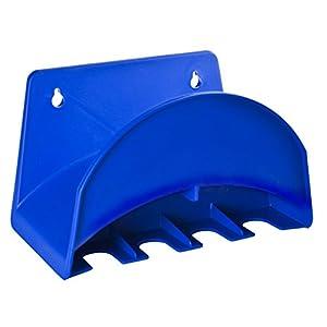 Tatay 42001 Soporte de Pared para Manguera de 25 m, con colgadores para Accesorios de riego plástico, Azul, 25 x 14 x 15…