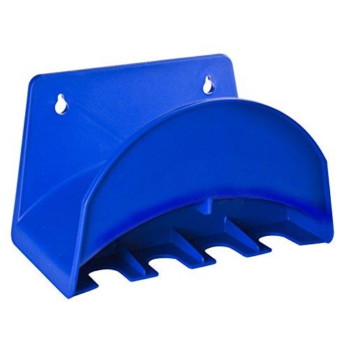 Tatay 42001 Soporte de Pared para Manguera de 25 m, con colgadores para Accesorios de riego plástico, Azul, 25 x 14 x 15 cm