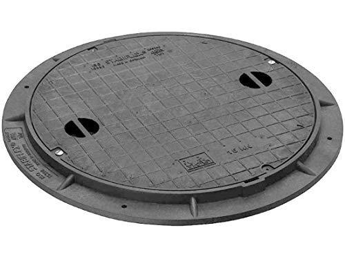 Schachtabdeckung STABIFLEX BASIC Typ1 15kN mit Griffmulden Kanaldeckel Zisternendeckel Abdeckung Zisterne Schacht leicht Kunststoff PE