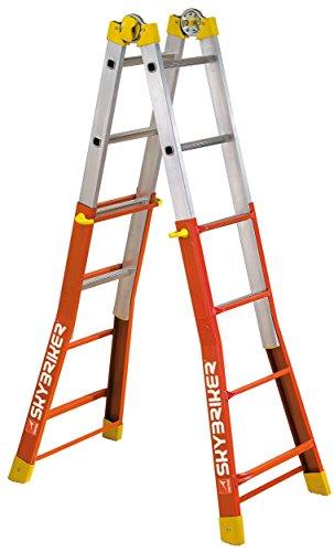Gierre 23020450 Escalera Telescópia Mixta Wolfpack 4+4, Naranja