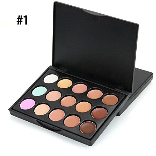 Correcteur Anti Cernes,Sensail Palette 15 Couleur Correcteurs De Teint Camouflage Concealer (A)