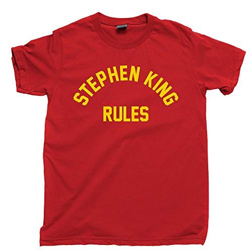 Stephen King Rules T Shirt Shining It Books Movies Monster Squad Dvd Blu Ray Tee Red M
