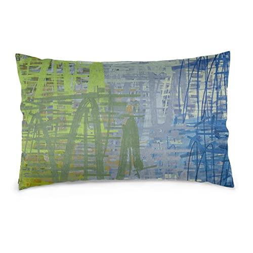 Fundas de Almohada 16X24 Pulgadas 2D Ilustración. Patrón geométrico Abstracto. Dibujo de Arte Moderno. Textura Digital. Throw Pillow Covers Sofá Coche Funda de cojín Decorativo para el hogar 40X60CM