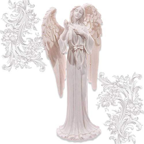 mtb more energy Ángel decorativo 'Hope' – Figura de ángel de la guarda – Altura 20 cm – Figura decorativa – Fe, esperanza, amor