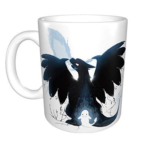 Charmander Dark Dragon Evolution - Taza de café de cerámica, diseño de dragón oscuro