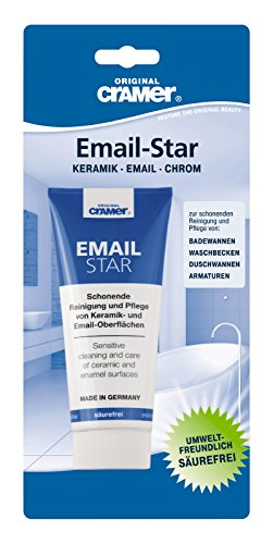 Cramer 83962 4 Email-Star Badpflege, Bad Pflege - zur Reinigung und Pflege von Armaturen und Whirlpool Düsen