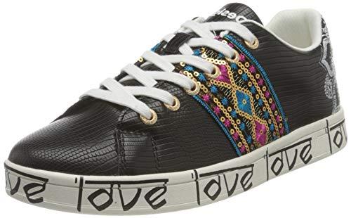 Desigual Shoes_Cosmic_Exotic Indi, Sneakers Woman Donna, Nero, 39 EU