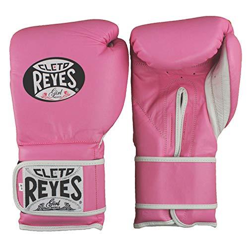 CLETO REYES Extra Polsterung Training Handschuhe–Klettverschluss–14–Klauenhammer, Pink (Regular Padding)
