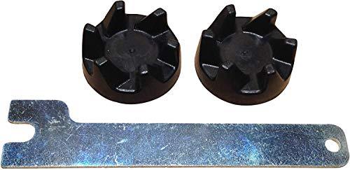 Packung mit 2 Original Blender-Gummikupplungs Kupplungen WP9704230. LKS-Schlüssel enthalten. Kompatibel mit Modellen ab 5KSB3, KSB3, KSB5, 5KSB52 und 5KSB5