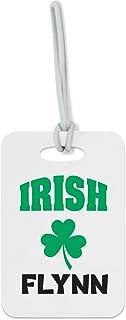 Personalized Custom Ireland Clover Luck Fiberglass plastic Luggage Tag Finder