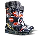 Demar Exclusive Boys Girls Kids Warm Fleece Lined Wellington Boots Wellies (Motorway, 7-8 UK / 24-25 EU - 153mm)