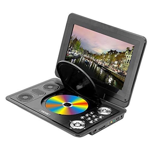 13.9Inch Portable DVD Player, Large-Size HD Swivel Screen, Built-in Rechargeable Battery, Support Earphone/SD Card/USB/TV, Region Free, Suit for Kids/Parent/Car/Travel
