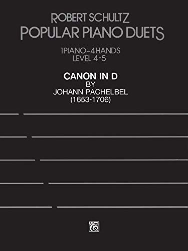 Canon in D: Advanced Piano Duet, Sheet (Popular Piano Duet)