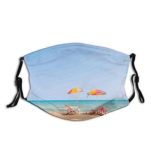 Cómoda cubierta de cara a prueba de viento, silla de playa, ocio, atracciones turísticas, decoración facial impresa para unisex.