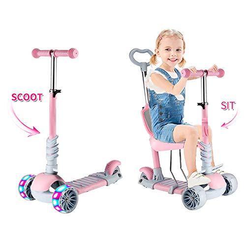 Scooter/Monopattino per Bambini 5 in 1, Motorino Regolabile per Bambini Piccoli 1-6 Anni Ragazzo & Ragazze Supporto 50 kg