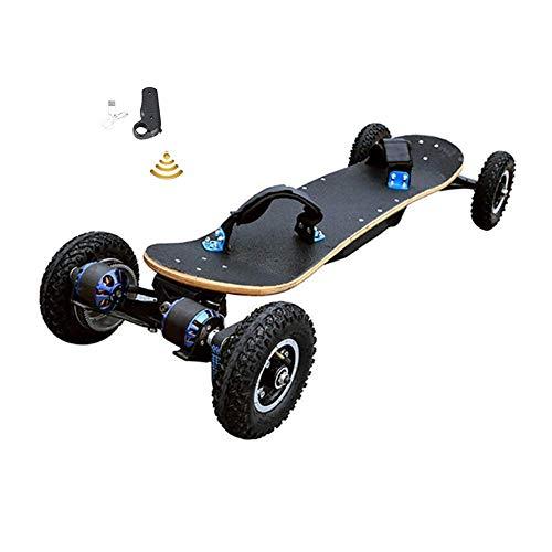 WXDP Cruiser PRO Skateboard,Skateboard Elettrico con Telecomando, 40 Km/H Dual-Engine Double Drive 1200W Mountainboard 11Ah Batteria Wireless 2.4Ghz Mountain Board off Road