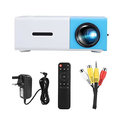 Sxhlseller Mini Projector - Large screen LED HD Projector for Living Room/Bedroom/Study Room/Travel/Party - Home Multi-function Video Projector(UK)