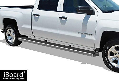 APS 5in Wheel-to-Wheel Nerf Bars Custom Fit 07-18 Silverado Sierra Crew Cab 6.5ft Bed