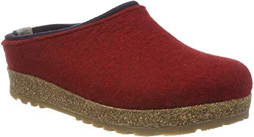 HAFLINGER Unisex-Erwachsene Kris Grizzly Pantoffeln, Rot (Paprika 42), 40 EU