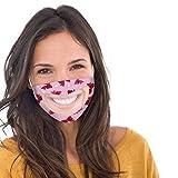 transparent Hochentwickelte waschbare Nano Mund-und Nasen-Bedeckung,Wiederverwendbarer Gesicht Atmung Schutz gegen Staub, Pollen, Abgase, Luftverschmutzung Design für Taubstumm face Cover (Pink)