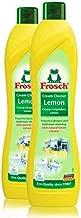 Frosch Natural Lemon Scouring Cream Cleaner, 16.9 fL oz (Pack of 2)