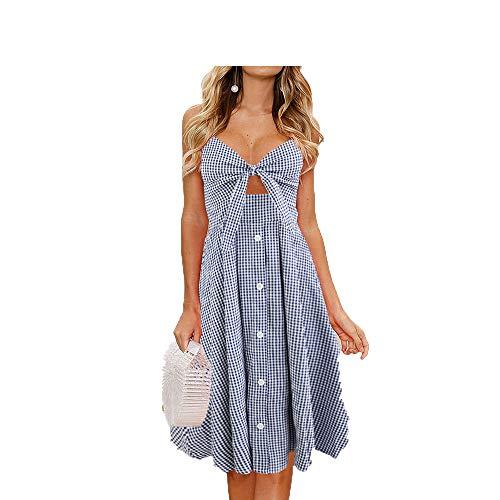 Summer Sling Mid-Length High-Waist Lace-Up Bow Print Halter Lantern Skirt
