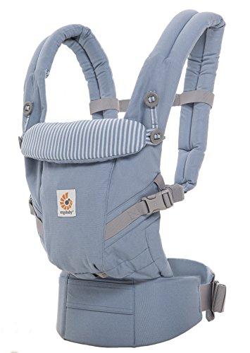 ERGObaby Adapt Air Mesh Babydrager | 3 ergonomische draagpunten: buik- heup en rugpositie | Keuze uit verschillende kleuren en ontwerpen | Draagtemperatuur onder controle met het 3D Air Mesh systeem | Speciaal opvouwbaar hoofd- en neksteun | Niet schadelijk voor de heupen
