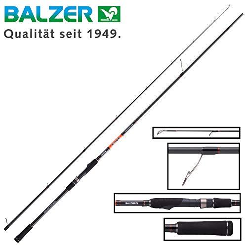 Balzer Shirasu Heavy Crank Shad 2,74m 28-77g - Spinnrute für Hechte & Zander, Raubfischrute für Wobbler & Gummiköder, Angelrute