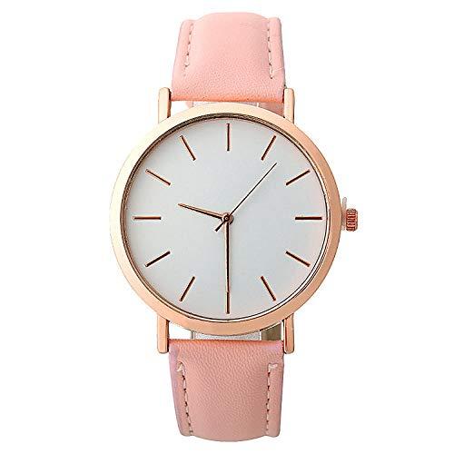 SANDA Relojes Hombre,Reloj de Pulsera Reloj de Calidad versión Coreana Reloj Simple-Rosado