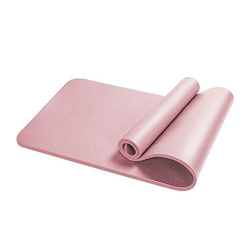 KDABJD Esterillas de yoga, 15 mm, antideslizante, alfombrilla de yoga NBR, almohadilla deportiva para gimnasia, ejercicios de gimnasio, esterilla de yoga