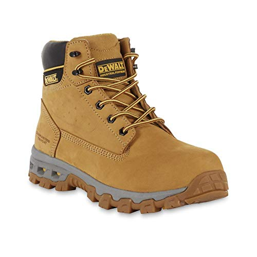 DEWALT Men's 6' Halogen Steel Toe Work Boot (9 M US, Wheat)