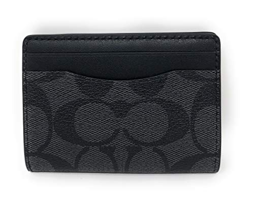 Coach Men's Magnetic Card Case, Qb/Charcoal, Small