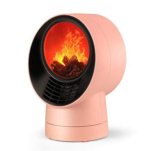MGWA Heizung Instantane Compact Kamin 3D Flamme Home Heizung Schreibtisch Oberfläche klein energiesparend Büro Schlafsaal
