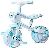 Xiaoyue Fahrräder Kinder Dreirad Fahrrad 3-4-5-6 Jahre alt männliche und weibliche Fahrrad-Kind-Baby-Knöchel-Auto-Baby-Waage Fahrrad (Farbe: Hellblau, Größe: 70x57x40cm) lalay