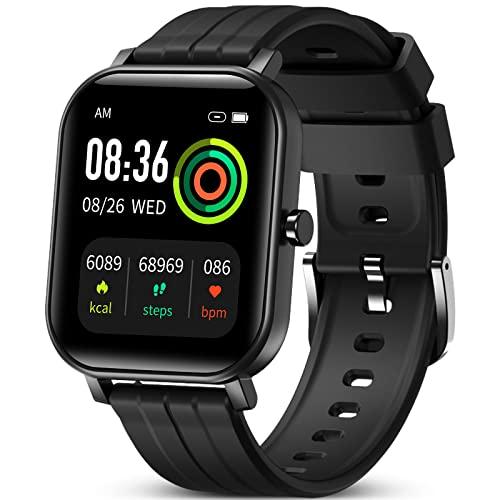GOKOO Smartwatch Uomo Donna,Touch Screen Orologio Fitness Activity Tracker Sport Smart Watch con 24 modalità sportive IOS Android Notifiche da Cronometro Ossigeno nel sangue Cardiofrequenzimetro