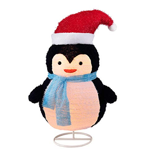 LordofXMAS 30-Inch Collapsible Penguin, Sheep Cashmere Lighted Holiday Display Christmas Seasonal Decor Indoor Outdoor Yard Decoration
