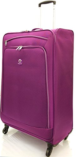 "28""/74cm Large Ultra Super Lightweight Durable Hold Luggage Suitcases Travel Bags Trolley Case Hold Check in Luggage with 4 Wheels, Weighs only 2.64KG (28' Large, Purple)"