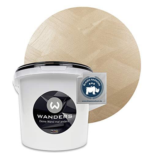 Wanders24® Tafelfarbe Metallic-Gold (3 Liter) Blackboard Paint - Tafellack - abwischbare Wandfarbe - in 5 Farbtönen erhältlich - Made in Germany
