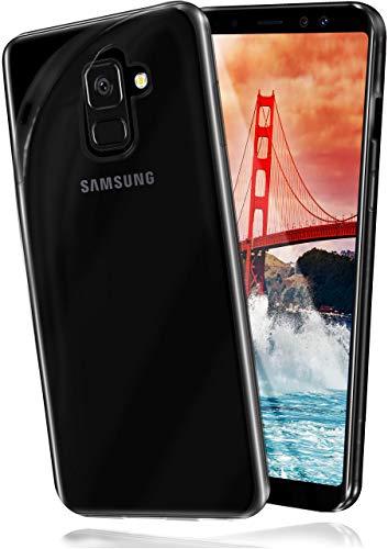 moex Aero Hülle kompatibel mit Samsung Galaxy A8 (2018) - Hülle aus Silikon, komplett transparent, Klarsicht Handy Schutzhülle Ultra dünn, Handyhülle durchsichtig einfarbig, Klar